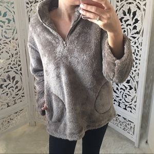 Plush Faux Fur Pullover